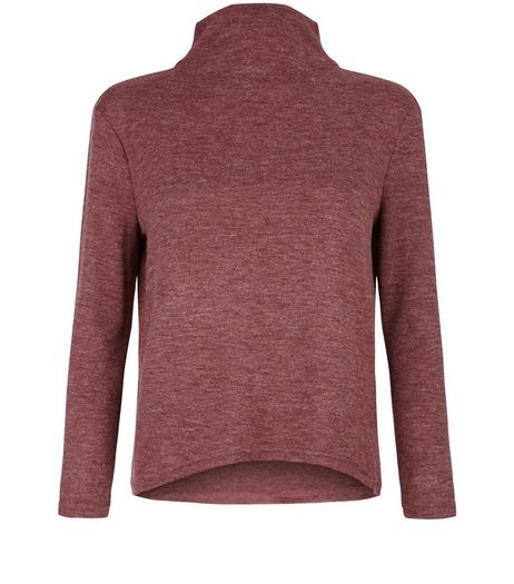 Teens Red Marl Funnel Neck Swing Top | New Look