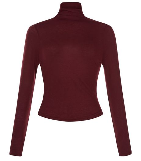 Teens Burgundy Turtle Neck Top | New Look