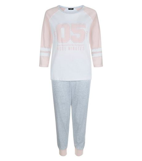 Petite Pink 05 More Minutes Pyjama Set | New Look