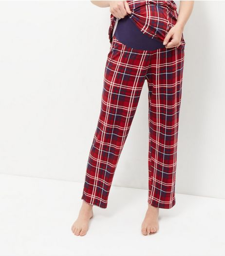 Maternity Blue Check Pyjama Bottoms | New Look