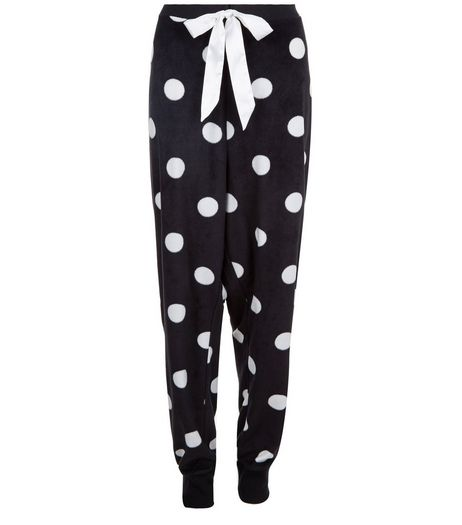 Curves Black Spot Print Joggers | New Look