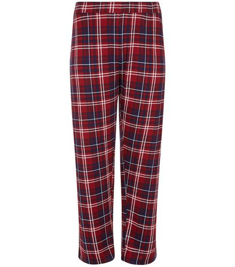 Curves Blue Check Pyjama Bottoms | New Look