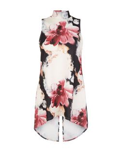 Cameo Rose Floral Print Split Back Top | New Look