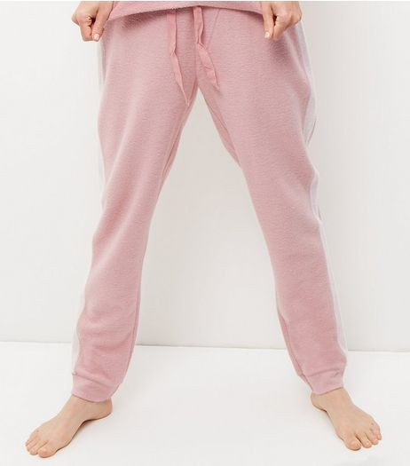 Mid Pink Stripe Side Pyjama Bottoms | New Look