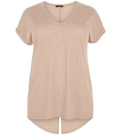 Curves Camel Split Back T-shirt | New Look