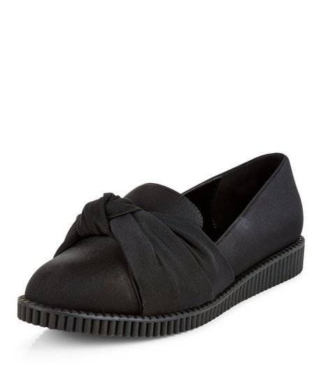 Black Knotted Front Creepers  | New Look