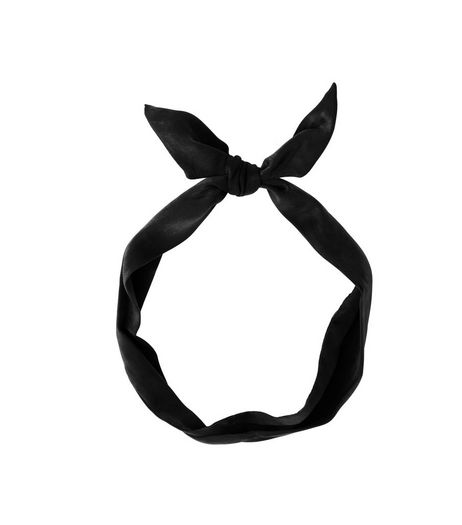 Black Satin Neckerchief | New Look