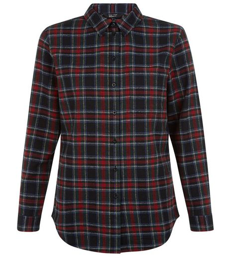Teens Black Check Longline Shirt | New Look