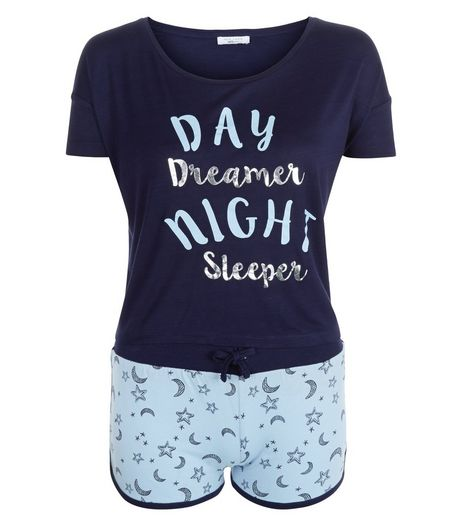 Teens Day Dreamer Night Sleeper Print Pyjama Set  | New Look