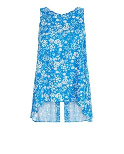 Apricot Blue Daisy Print Split Back Top | New Look