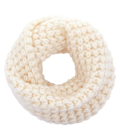 Cream Knitted Snood | New Look