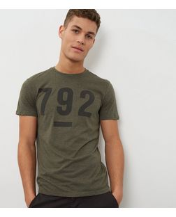 Olive Green 792 T-Shirt  | New Look