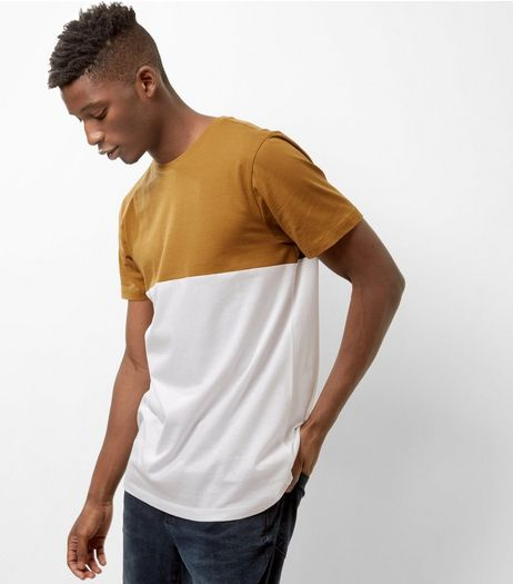 Camel Colour Block T-Shirt | New Look