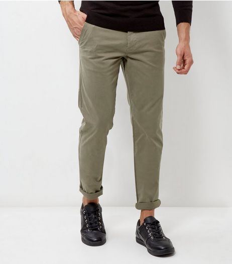 Olive Green Slim Chinos | New Look