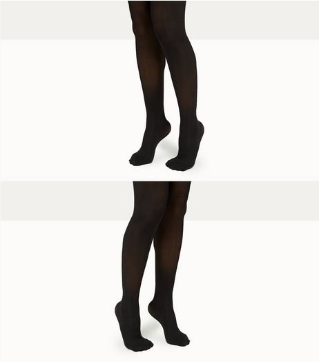 Maternity 2 Pack Black Stretch 50 Denier Tights | New Look