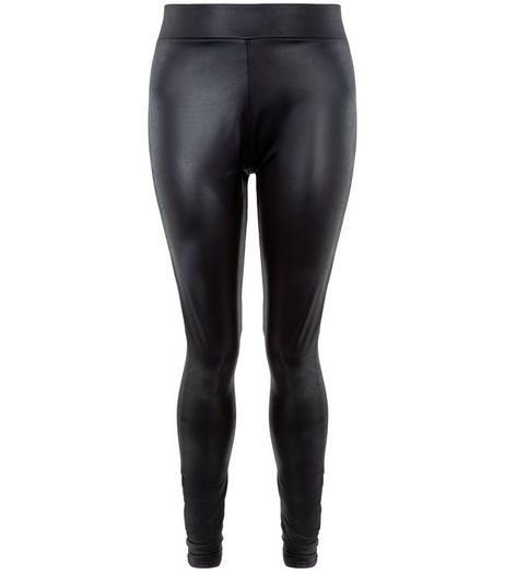 Teens Black Coated Leggings | New Look