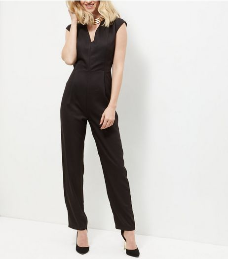 Mela Black Wide Leg Jumpsuit  | New Look