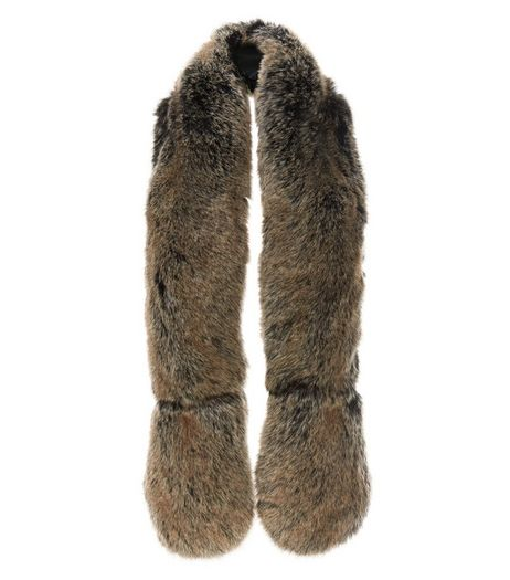 Mink Faux Fur Stole  | New Look