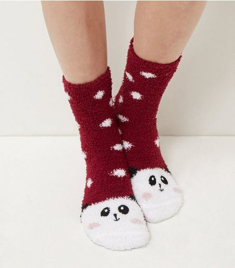 Red Panda Slipper Socks | New Look