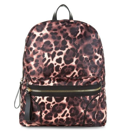 Brown Leopard Print Backpack | New Look