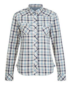 Cameo Rose Blue Check Pocket Front Shirt | New Look