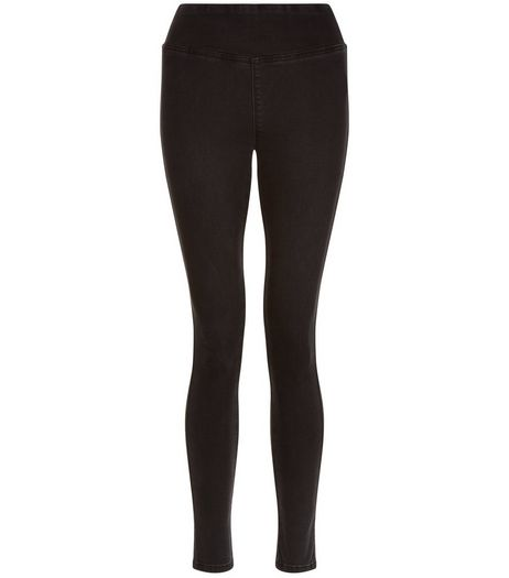 Teens Black High Waisted Jeggings | New Look