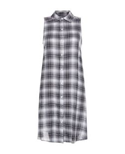 Blue Vanilla Black Check Longline Shirt | New Look