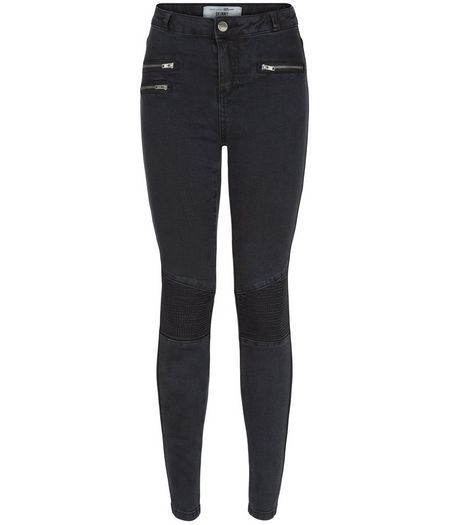 Teens Black Zip Pocket Skinny Jeans | New Look