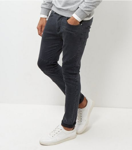 Black Padded Skinny Jeans | New Look