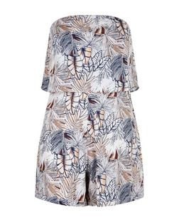 AX Paris Multicoloured Tropical Print Playsuit | New Look