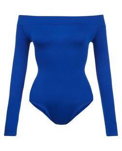 Blue Vanilla Blue Bardot Neck Bodysuit  | New Look