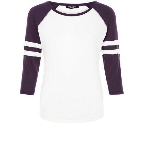 Petite White Raglan T-Shirt | New Look