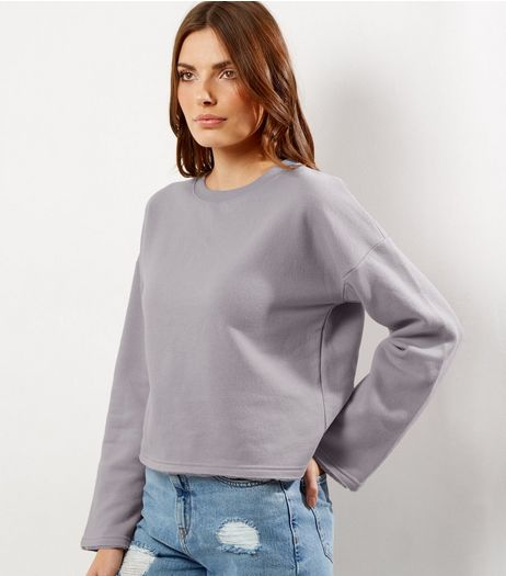 Grey Wide Sleeve Sweater | New Look