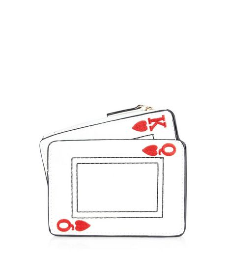 White Playing Cards Purse | New Look