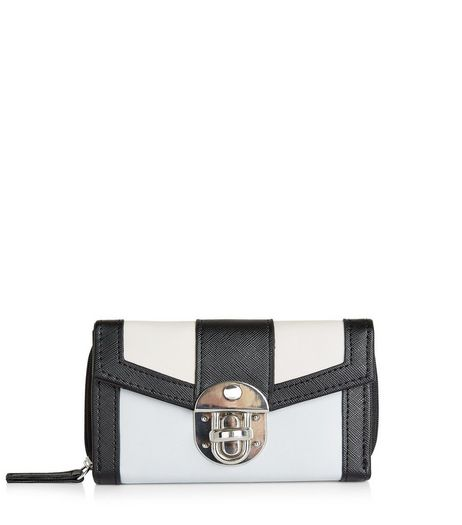 Pale Blue Contrast Trim Fold Over Purse | New Look