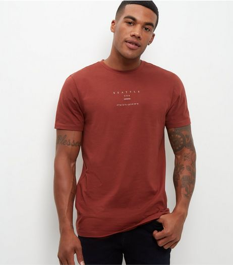 Rust Seattle T-Shirt  | New Look