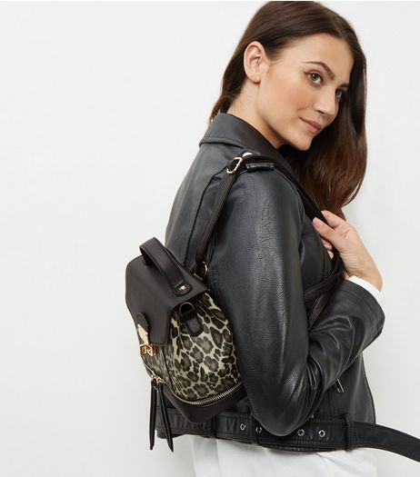 Brown Leopard Print Cross Body Backpack | New Look