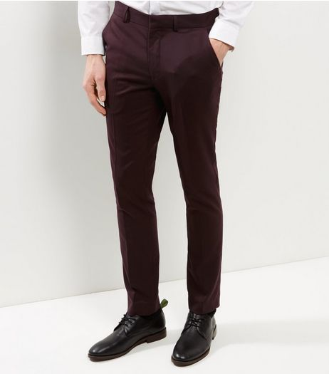 Burgundy Suit Trousers | New Look