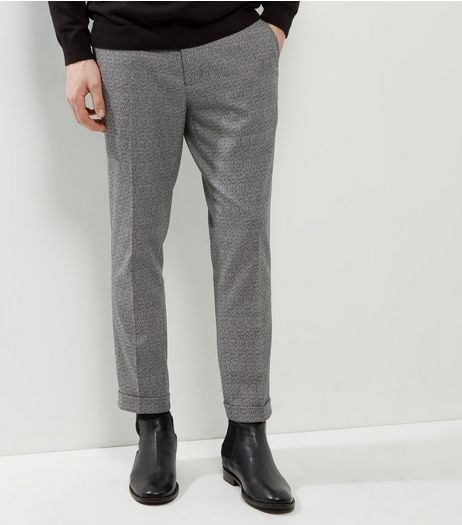 Dark Grey Speckled Slim Leg Trousers | New Look