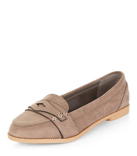 Teens Light Brown Suedette Loafers | New Look