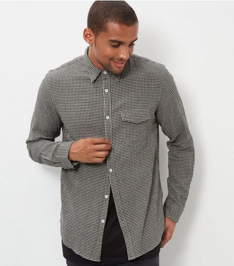 Grey Check Crepe Shirt | New Look