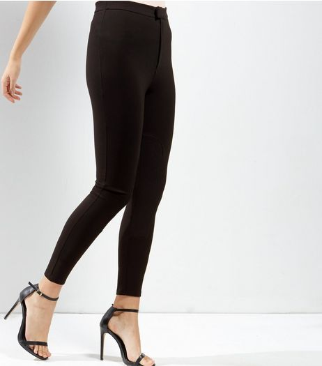 Black Zip Fly Leggings | New Look