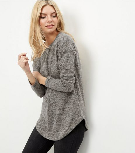 Camel Brushed Zip Back Jumper | New Look