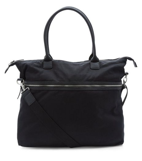 Black Canvas Bag | New Look