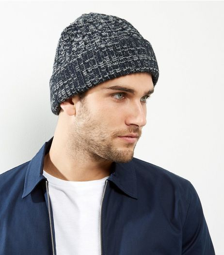 Blue Cable Knit Beanie | New Look