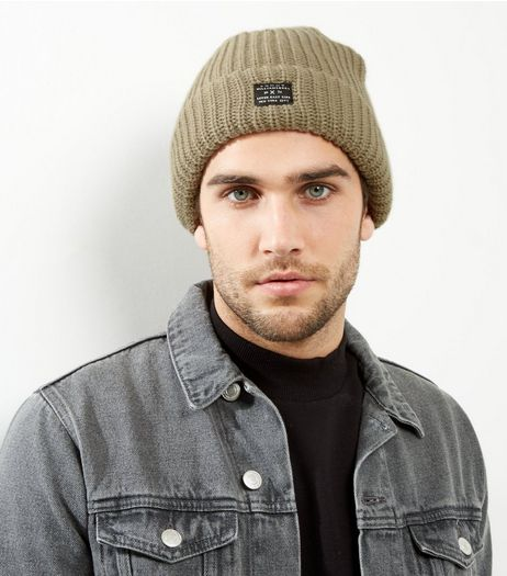 Light Brown Ribbed Beanie Hat | New Look