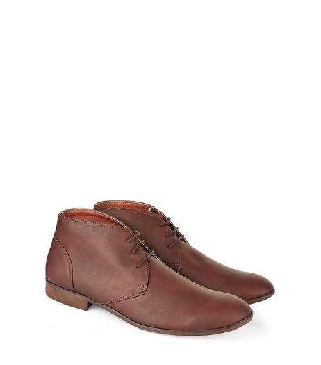 Brown Lace Up Chukka Boots | New Look