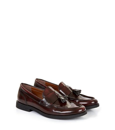 Dark Brown Tassel Loafers | New Look