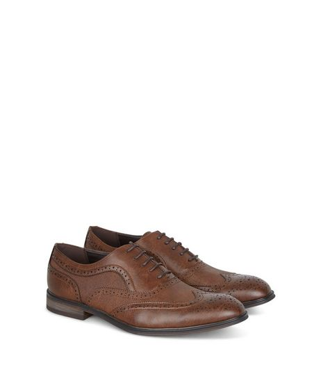 Dark Brown Brogues | New Look