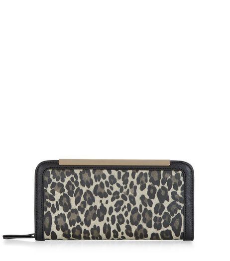 Black Animal Print Purse | New Look